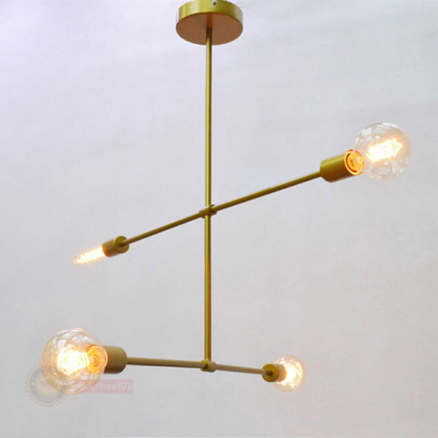 West Elm Chandelier Gold Arms 4lights Contemporary Ceiling Light Pendant Lamp