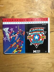Captain-America-And-The-Avengers-Nintendo-NES-Instruction-Manual-Booklet-Only