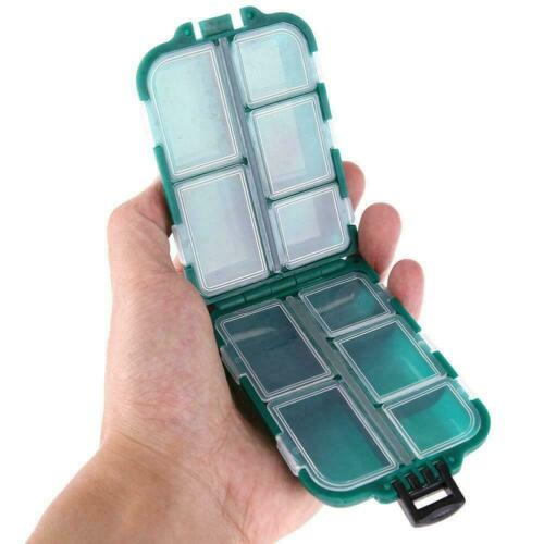 Plastic Fishing Tools Box Tackle Lure Spoon Hooks Case Storage Accessories X7O7