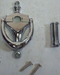 160 degree peephole door viewer knocker polished chrome vk783 - Door knocker with peep hole ...