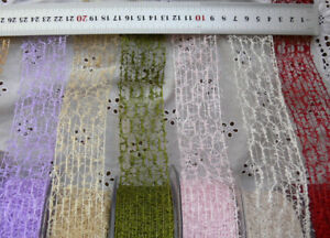 Mesh-Net-Ribbon-Wired-38mm-1-5inch-Wide-2or3-Metres-7-ColourChoice-MayArts-LRD7