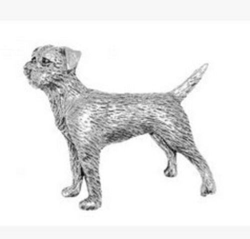 Made In UK Lapel Pin Badge Pewter Border Terrier Badge pin