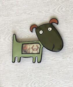 Adorable-artistic-Dog-large-Brooch-Pin-in-enamel-on-Metal