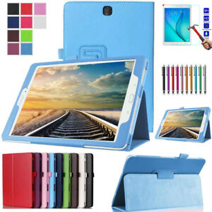 Leather-Tablet-Stand-Flip-Case-Cover-For-Samsung-Galaxy-Tab-A-9-7-T550-T551-T555