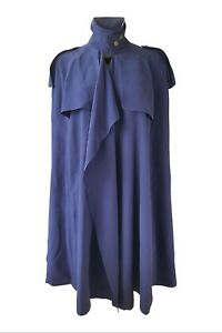 BURBERRY-Blue-100-Silk-Knee-Length-Cape-UK-8