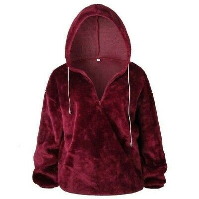 crazy price unique design pre order Women Loose Baggy Hoodie Pullover Sweatshirt Furry Faux Fur Hooded ...