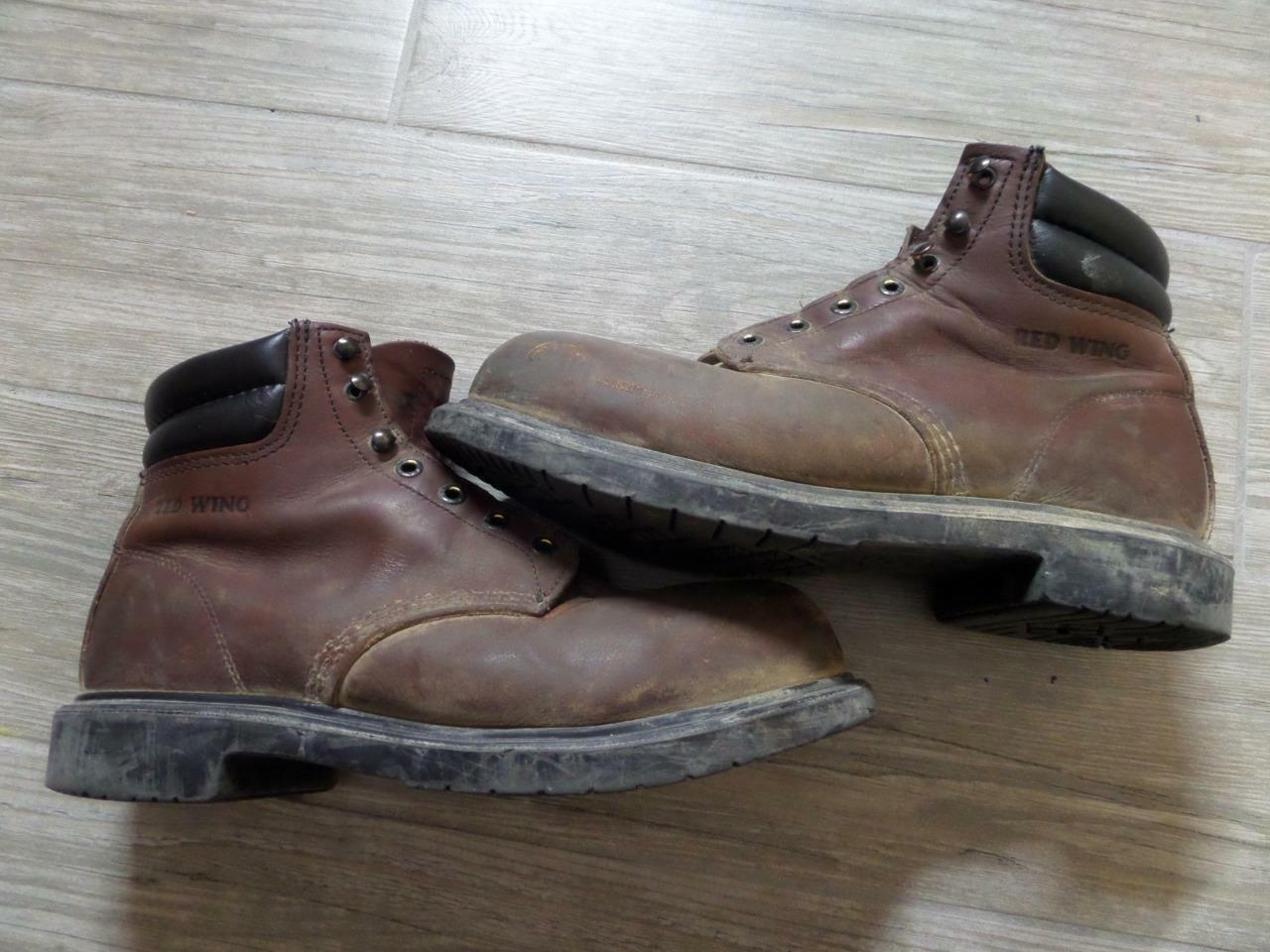 Sz 8.5 botas para hombre rojo WING 2245 6  Super exclusivo riesgo eléctrico Marrón Puntera De Acero