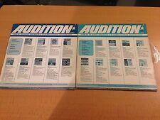 Audition-2 LP Lot-Spring 1967-Autum 1966-Columbia Masterworks-Vinyl Records