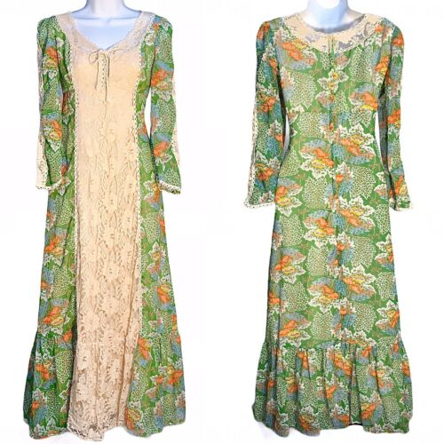 VTG 60s 70s Young Innocent By Arpeja Prairie Dress