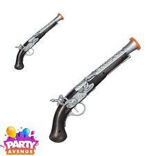 Fancy Dress Accessory Plastic Pirate Pistol 35cm Long Black /& Gold Gun UK SELLER