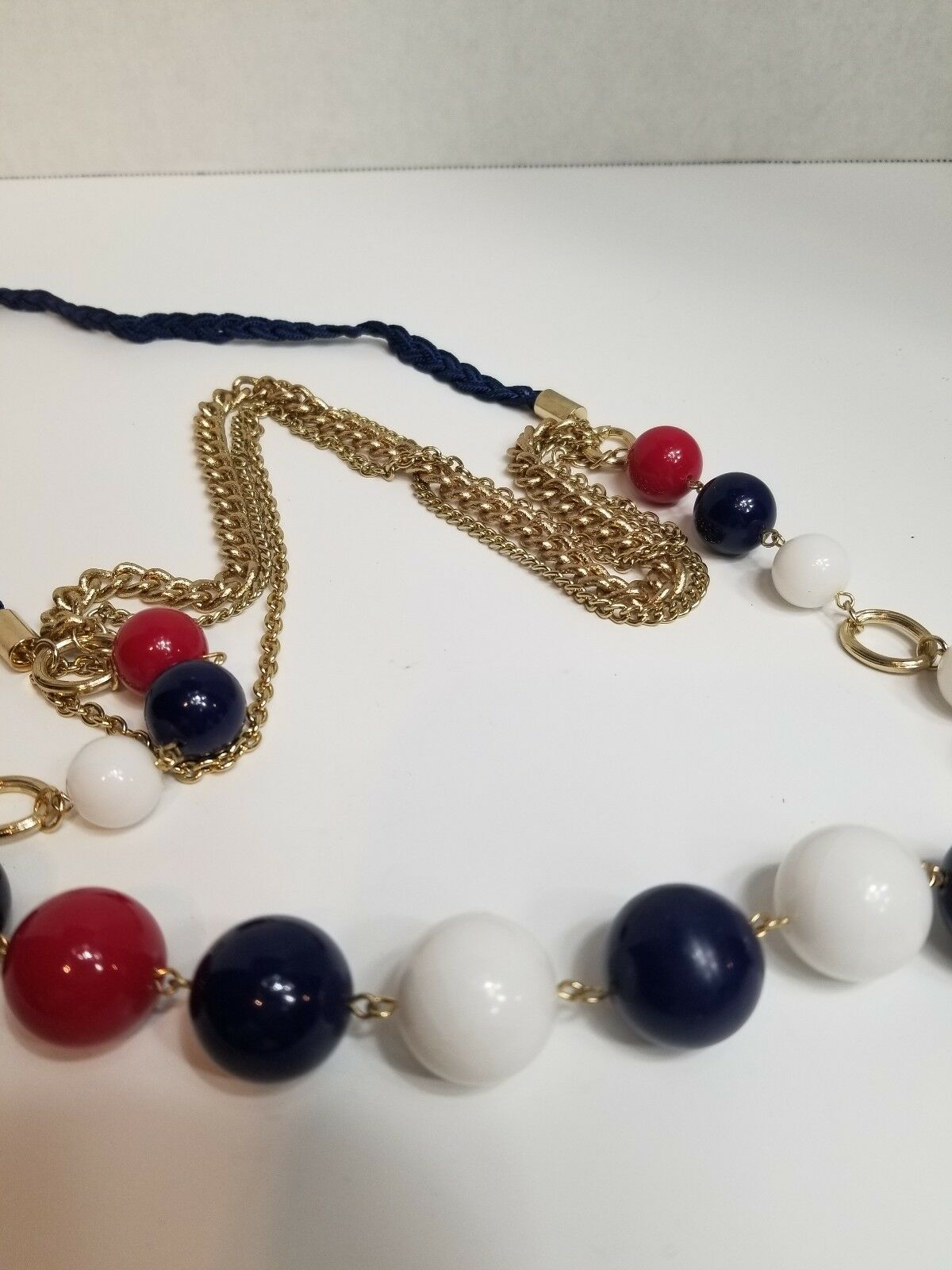 Multi Strand Beaded Chain Necklace - image 4