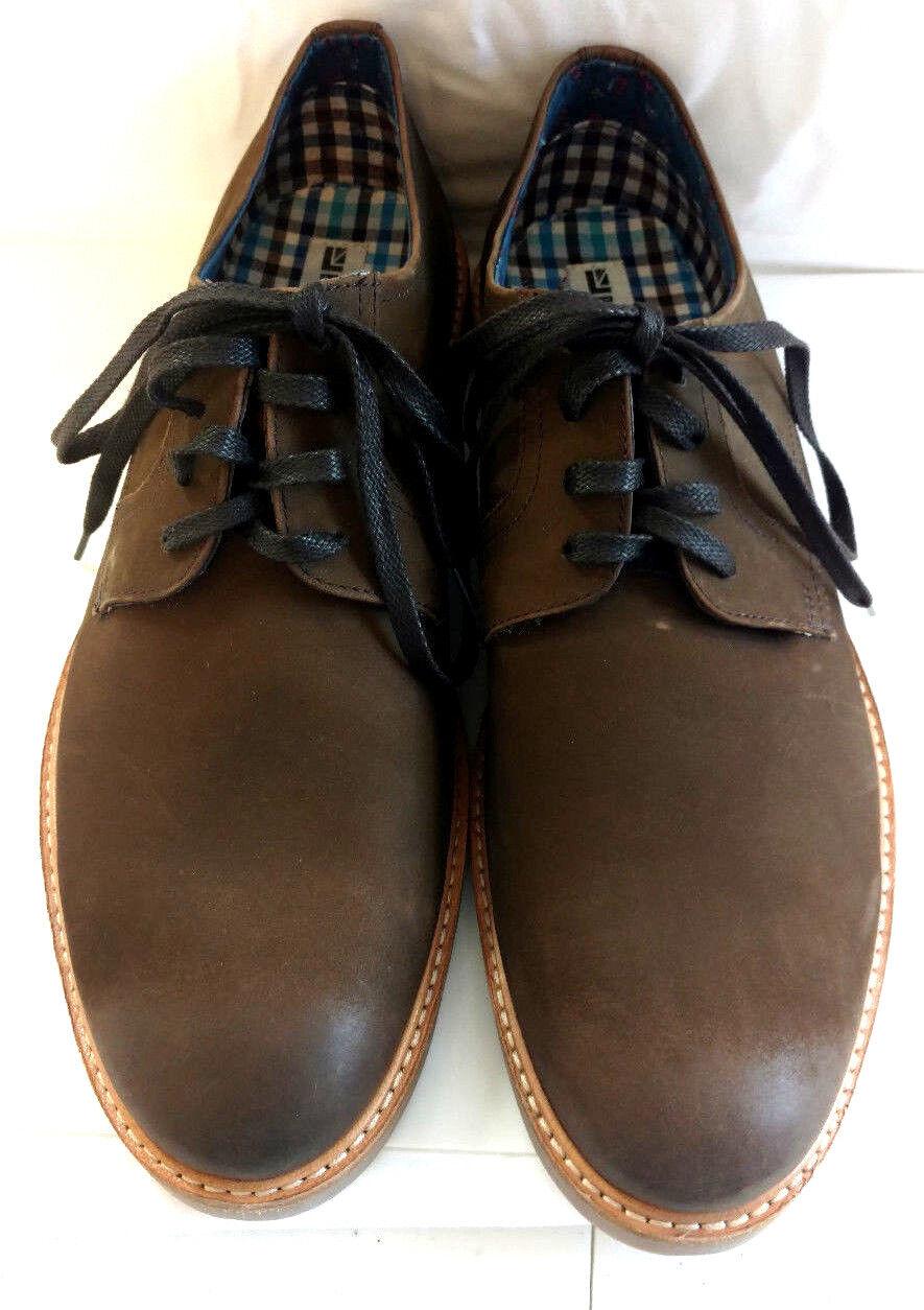ordina adesso Ben Sherman Uomo Dress Dress Dress scarpe Leather Oxford Marrone Suede Lace Up  costo effettivo