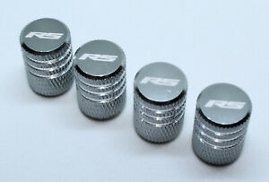 4x Valve Cap for FORD Aluminium Dust Caps for RS/Std Line Brand New Silver Check
