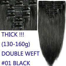 Deluxe AAAA Real Double Weft Clip In Remy Human Hair Extensions Full Head Q631