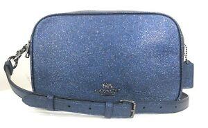 NWT-Coach-Jes-Crossbody-Glitter-Crosssgrain-Leather-Shoulder-Handbag-Purse-88011