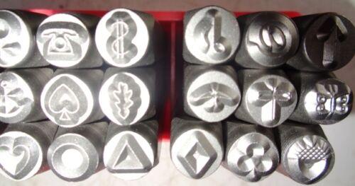 Pattern Stamp Set  6mm  27 designs HRC-58-62  best quality suit metals