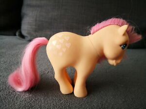 My-Little-Pony-G1-Peachy-Pink-Hearts-Vintage-Hasbro-1984-Collectibles-MLP