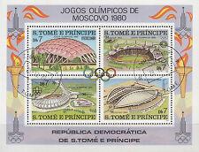 Sao Tome e Principe Nr. Bl. 43A (637-640) Olympia 1980 in Moskau