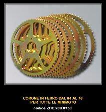 MINIMOTO ZOCCHI Couronne 68z Rear Sprocket Acier Steel  ZOC 200.0350