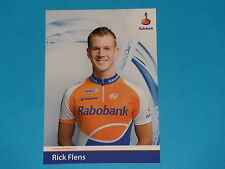 RICK FLENS - EQUIPE  RABOBANK  - CARTE CYCLISTE - TOUR DE FRANCE