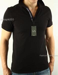 Armani Exchange AX para hombre de la firma Top Camisa Polo Piqué ... 54346a0376dd3