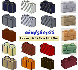 lego 1x2 bricks modified lots pick your brick colors masonry grille log ebay. Black Bedroom Furniture Sets. Home Design Ideas