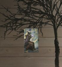 X47151 Lighted Halloween Witch And Moon Canvas Painting Picture Ornament Art