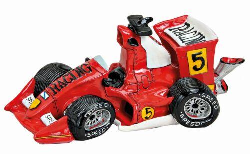 Comic Spardose roter Rennwagen 25 cm zum ansparen Sparschwein Rennen