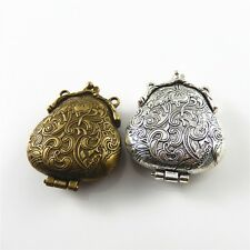 Wholesale 2pcs Mixed Toad Locket Look Alloy Plated Charms Pendants Finding Craft