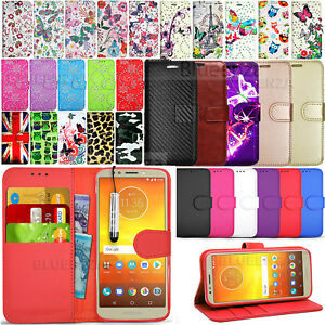 save off c067d 819bf Details about For Motorola Moto E5+ Plus (5th Gen) Wallet Leather Case Flip  Cover +Screen Film