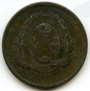 Canada-1837-Bank-Token-One-Penny-KZ792