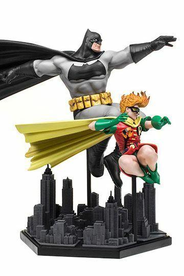 DC Arte Escala De Lujo Estatua 1 10 Batman y Robin caballero oscuro regresa Iron Studios