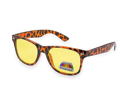 Night Day Vision Driving Polarized Lens Aviator Retro Frame Sunglasses Glasses