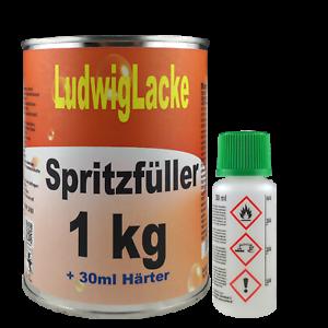 2k sous-couche Set Spritzfüller Spritzspachtel Acrylique Remplisseur antirouille gris