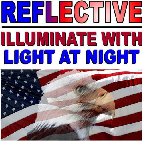 Sticker Military-Marines-ARMY PACK OF 3 REFLECTIVE EAGLE American Flag