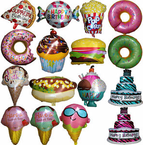 pizza ice cream burger hotdog donuts pop corn cones balloon birthday