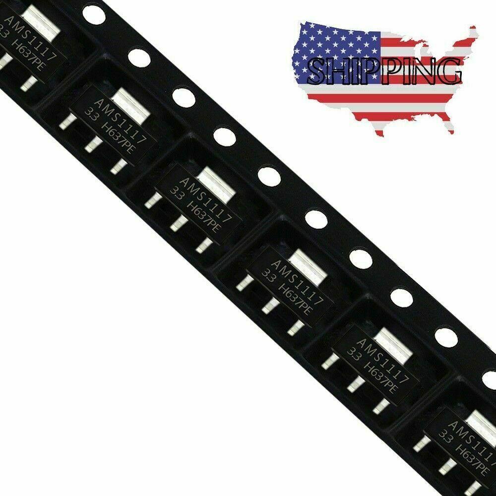 20x AMS1117-5.0 AMS1117 LM1117 5V 1A SOT-223 Voltage Regulator IC Chip  UA