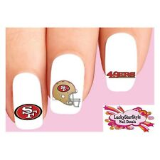 52pcs San Francisco 49ers Mickey Nail Art Decals Stickers Transfers