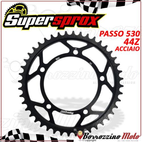 CORONA SUPERSPROX IN ACCIAIO NERO PASSO 530 44 DENTI SUZUKI GSX-R 1000 K3 2003