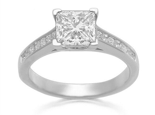 18Carat White gold Half Carat Princess Cut Diamond Engagement Ring 0.50 carats