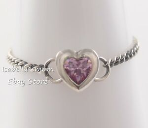 5e00141a68f63 Details about SPIRITED HEART Genuine PANDORA Silver PINK Ring 197191PCZ  Pick Sz & Packaging!