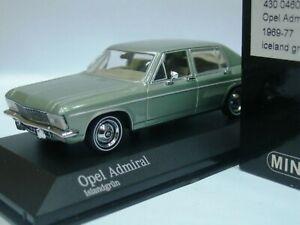 Wow Extrêmement Rare Opel Admiral B 2.8l I6 Auto 1974 Vert 1:43 Minichamps-rekord