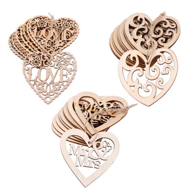 LOVE HEARTS LASER CUT MDF WOODEN PIECES Wood Craft Arts Scrapbooking Decoration