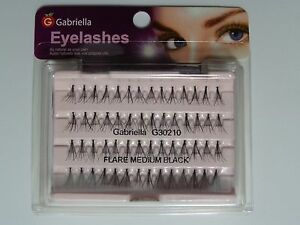 Lot-of-20-GABRIELLA-pestanas-individual-100-Human-hair-medium-Negro-Flare