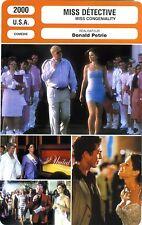 Fiche Cinéma. Movie Card. Miss congeniality/Miss détective (USA) 2000 D. Petrie