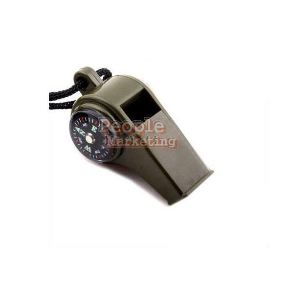 Whistle Survival Camping Thermometer Compass 3 in1 P