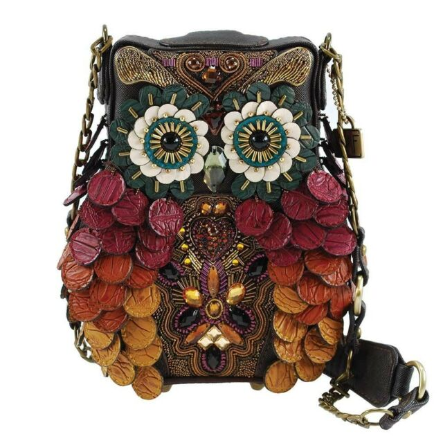 Mary Frances Wise Embellished Owl Handbag