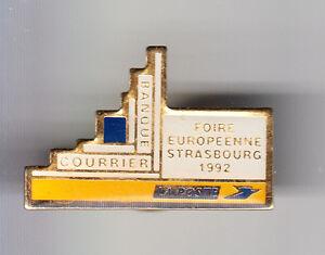 RARE-PINS-PIN-039-S-PTT-LA-POSTE-FRANCE-TELECOM-FOIRE-EUROPE-92-STRASBOURG-67-BX