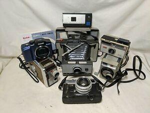 Huge Vintage Camera Lot Kodak Polaroid 230 Minolta  Hi-Matic Untested As Is