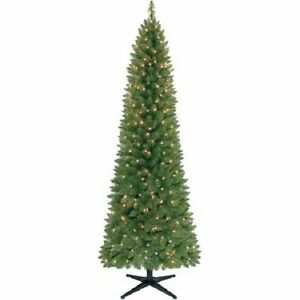 holiday time pre lit 7 brinkley pine artificial christmas tree clear lights ebay - White Pine Christmas Tree
